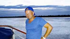 Blauer Mann an Bord