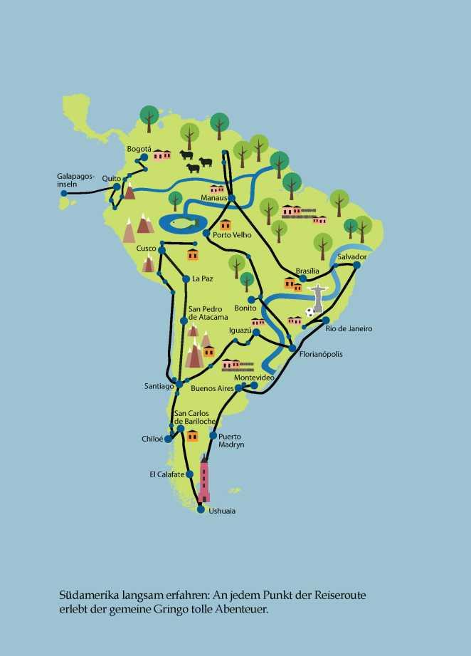 Karte pdf Südamerika
