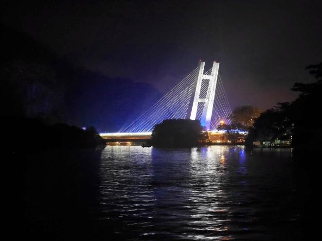 Die neue Metrobrücke, die sehe ich von einer Bootsfahrt aus