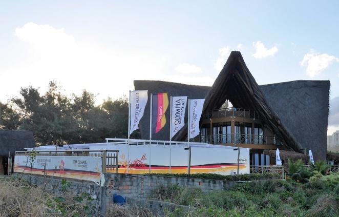 Das Deutsche Haus des DOSB (Deutscher Olympischer Sportbund) in Barra.