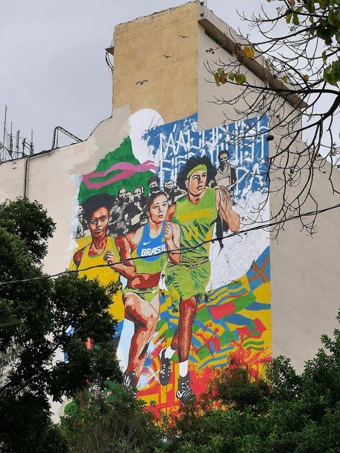 In Lapa, dezente Nike Werbung - machen sie gut, das Bild ist riesig