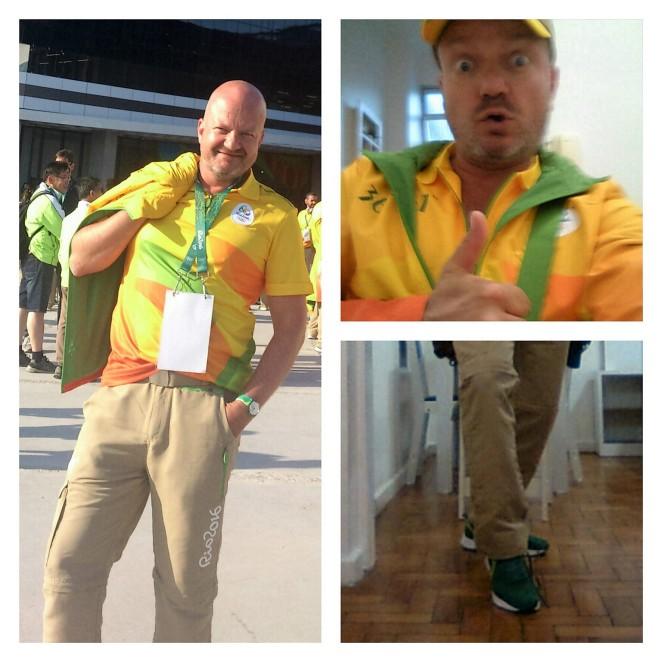 Kein Scherz: Die Kleidung ist super bequem und ich mag die Klamotten. Mit dem Gelb habe ich mich arrangiert.